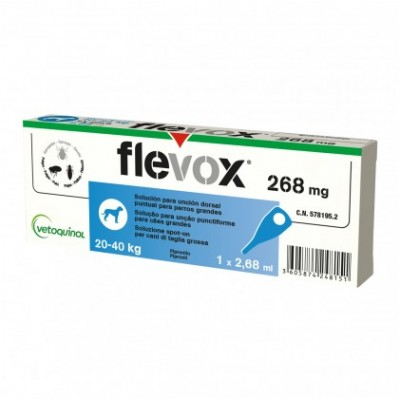 FLEVOX*spot-on soluz 1 pipetta 2,68 ml 268 mg cani da 20 a 40 Kg
