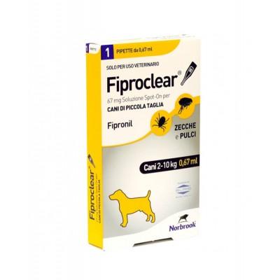 FIPROCLEAR*spot-on soluz 1 pipetta 0,67 ml 67 mg cani da 2 a10 Kg
