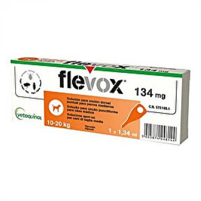 FLEVOX*spot-on soluz 1 pipetta 1,34 ml 134 mg cani da 10 a 20 Kg